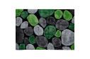 Koberec, zelená / šedá / černá, 120x180, PEBBLE TYP 1