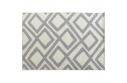 Koberec, krémově / šedá / vzor, 133x190, GILMER TYP 2