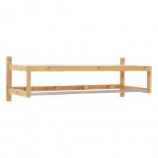 Police s tyčí a háčky, přírodní bambus, LELA ryp 2
