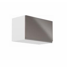 Horní skříňka, bílá / šedý extra vysoký lesk, AURORA G60KN