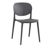 Stohovatelná židle, tmavě šedá, FEDRA