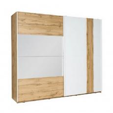 2-dveřová skříň, dub wotan/bílá, VODENA 250