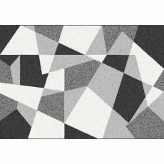 Koberec, černá/šedá/bílá, 57x90, SANAR