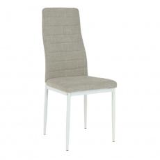 Židle, béžová látka / bílý kov, COLETA NOVA