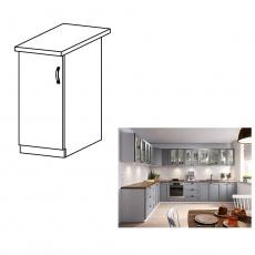 Spodní skříňka, šedá matná / bílá, levá, LAYLA D30