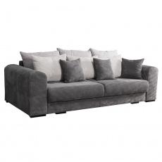 Extra prostorná pohovka, šedá / světle / béžová, GILEN BIG SOFA
