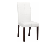 Jídelní židle, bílá / tmavý ořech, RORY 2 NEW