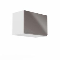 Horní skříňka, bílá / šedý extra vysoký lesk, AURORA G60K