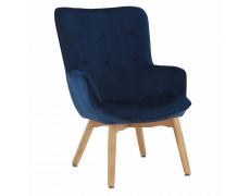 Designové křeslo, modrá Velvet látka, FODIL