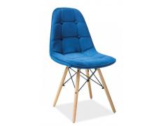 Jídelní židle AXEL III aksamit modrá