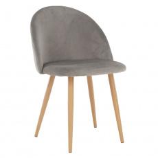 Jídelní židle, světle šedá, FLUFFY