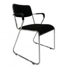 Zasedací židle, černá síťovina, DERYA NEW