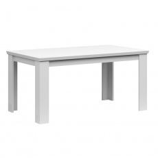 Rozkládací jídelní stůl, 160/200cm, bílá, ARYAN