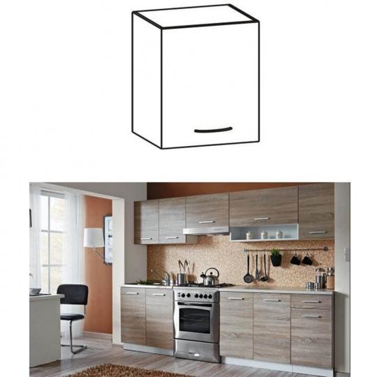 Skříňka do kuchyně, horní, dub sonoma / bílá, Cyra NEW G 40