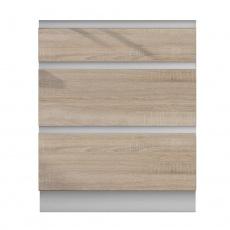 Dolní skříňka D 60, dub sonoma/bílá, LINE