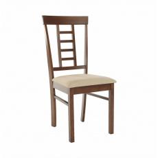 Jídelní židle, ořech / béžová, OLEG NEW