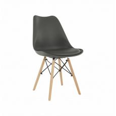 Židle, tmavě šedá / buk, Kemal NEW