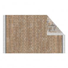Oboustranný koberec, vzor / hnědá, 80x150, MADALA