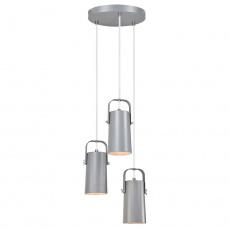 Visící lampa, šedá / kov, DEVAN