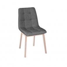 Jedálenská stolička, drevo svetlý buk / látka sivá, GALIO