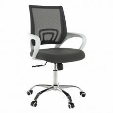 Kancelářské křeslo, šedá/bílá, SANAZ TYP 2