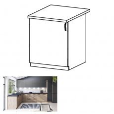 Spodní skříňka, dub artisan, levá, LANGEN D60