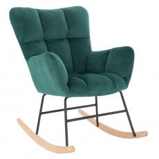 Designové houpací křeslo, smaragdová, KEMARO