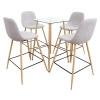 Jídelní set stůl / čtyři židle, světle šedá, DAMAN