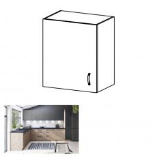 Horní skříňka, dub artisan, levá, LANGEN G60