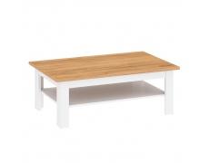 Konferenční stolek, bílá alba / dub craft zlatý, LANZETTE T