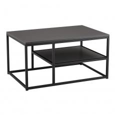Konferenční stolek, grafitová / černá, BARMIO