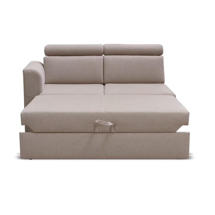 Otoman 2 1B ZF na objednávku k luxusní sedací soupravě, béžová, levý, MARIETA