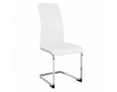 Jídelní židle, bílá/chrom, VATENA