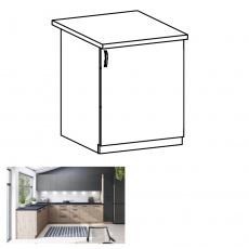 Spodní skříňka, dub artisan, pravá, LANGEN D60