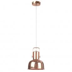 Visící lampa v retro stylu, kov, rose gold, AVIER TYP 3