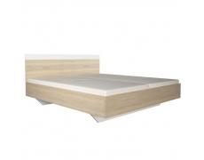 Manželská postel, dub sonoma / bílá, 180x200, GABRIELA