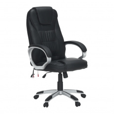 Kancelářské křeslo s funkcí masáže, černá, TYLER UT-C2652M