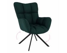 Designové otočné křeslo, zelená/černá, látka, KOMODO