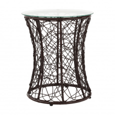 Příruční stolek, hnědá, SALMAR NEW