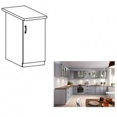Spodní skříňka, šedá matná / bílá, pravá, LAYLA D40