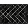 Koberec, černá/vzor, 133x190 cm, MATES TYP 1