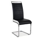 Jídelní židle H441 černobílá