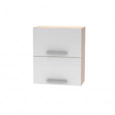 Horní výklopná skříňka 2DV, dub sonoma / bílá, NOPL-008-OH