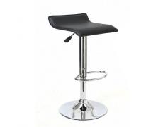 Barová židle, ekokůže černá / chrom, LARIA