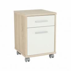 Kancelářský kontejner, dub sonoma/bílá, JOHAN 2 NEW 07
