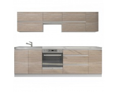 Kuchyňská sestava 2,6m, dub sonoma, LINE