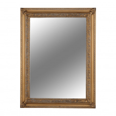 Zrcadlo, dřevěný rám, zlatá, MALKIA TYP 15