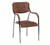 Stohovatelná židle, hnědá, ILHAM