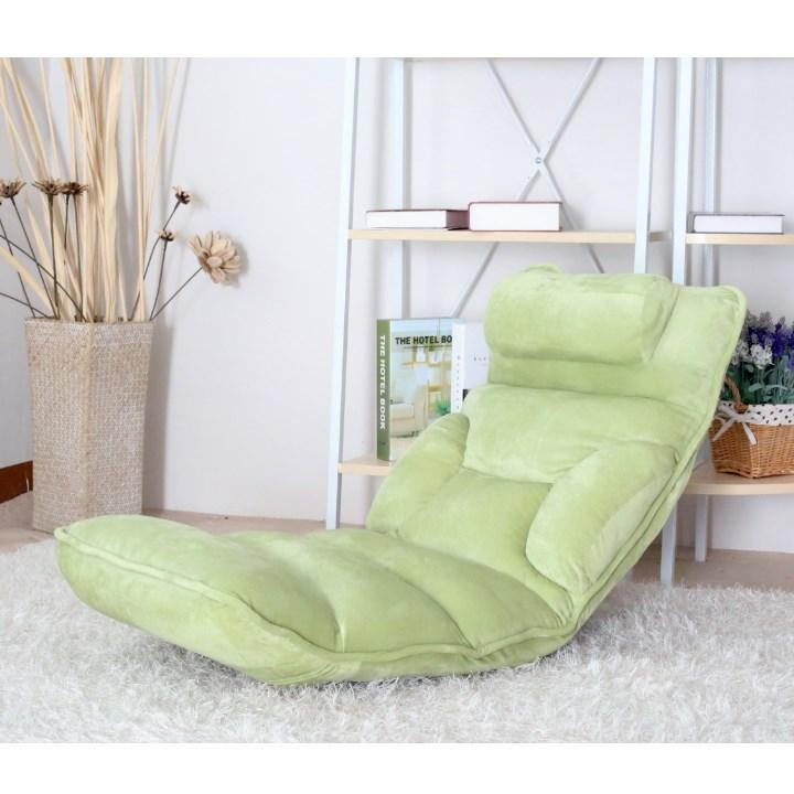 Relaxační křeslo, látka zelená, LOTA