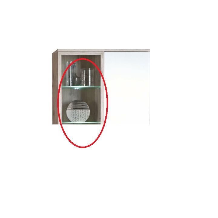 Dvoubodové LED osvětlení k obývací stěně VALERIA.